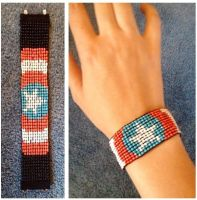 Captain America bracelet by The30thOfFebruary