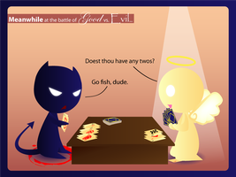 Epic Go Fish of Good vs Evil by Hihoshi