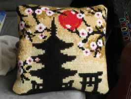 Japanese cushion by Santian69