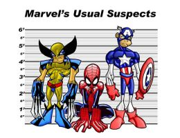 Marvel's Usual Suspects by Ellistrated