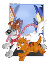 Oliver And Company by Leenspiration