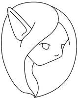 Free Lineart - MSPaint Friendly Elf Headshot by CassidyPeterson