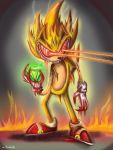 Super Sonic Fleetway-  Eye Blast by Comickpro