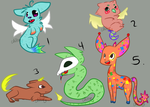 Coloful adoptables :3 [OPEN] by Chibbur