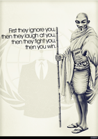 Gandhi Revisited - Anonymous in History by OpGraffiti