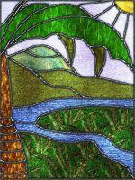 Stained-glass Palm-tree by fmr0