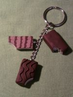 Keychain with brioches fimo by bimbalove81