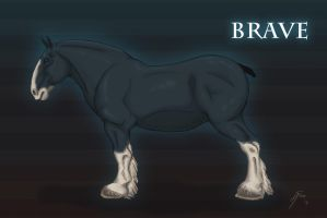 'BRAVE' Horse Concept Art by inkydragon