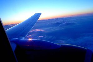 thirty thousand feet at sunset by Angus4greenie