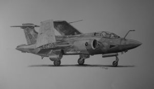 Blackburn Buccaneer XW544 by NorthumbriaArt