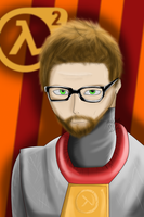 Gordon Freeman Semi-Realism by ZeFlyingMuppet