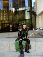 Loki : Sprawling on the Fringes of the City by ElwynAvalon