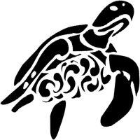 Turtle Tribalized Decal by WrensthavAviovus