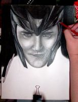 WIP The God of Mischief II by gfuentesart