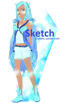 Sketch of crystelle's new outfit by Dewdrops-of-Crystal