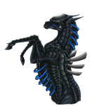 Mecha Horse (Transparent Background) by DelusionalPuffball