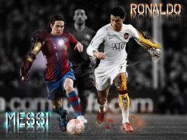 Messi VS Ronaldo by Bactu