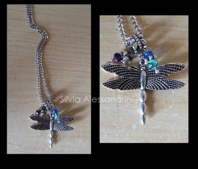 Dragonfly necklace by SilvieTepes