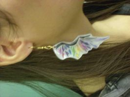 fallen angel wing earrings by PrismsPalette