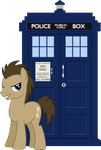 [Request] Dr Whooves with the Tardis by Uponia