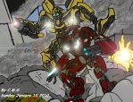 Arcee and Bumblebee retouch by TheCiemgeCorner