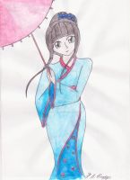 The Girl in the Kimono by ImaginaryRoses