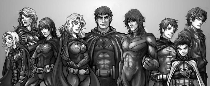 Bat Family Sketch by Quirkilicious