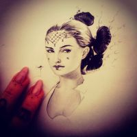 Padme Admidala portrait in progress by LadySayuri