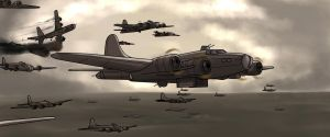 B-17 Flying Home (Without Flak) by oLEEDUEOLo