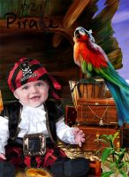 Child template for photomontage-Pirate booty by DiZa-74