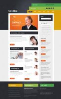 colorful psd template by rafimit