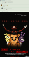 FNAF Movie poster, comment inspired :) by MaikSan
