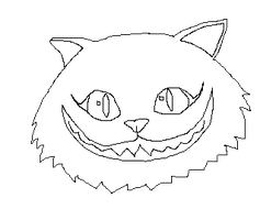Cheshire Cat LineArt 2 by TheDemonAngelWolf