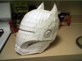 Bat Armor: Helmet Construction, Part 4 by scenturion666