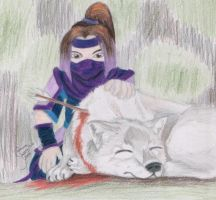 Jiang Wei and the alpha wolf by Forrestris