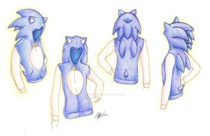 Sonic the Hedgehog Hoodie Des. by Blue-Sonikku