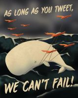 Twitter, Flight of the Fail Whale by skullx