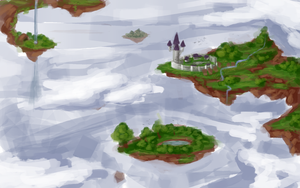 Floating islands by Miamelly