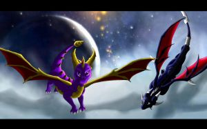 .:Spyro and Cynder:. by kryptangel92