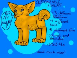 Customizable Canine Lineart //!New LOWER Price!\\ by Hoffnungsstern