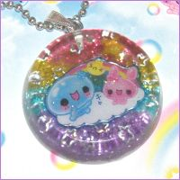 Kawaii Bubble Buddies Necklace by bapity88