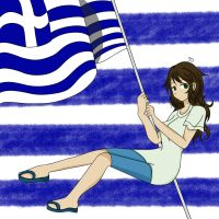 Waving Flag World Tribute - FemGreece by midori555