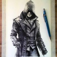 Jacob Frye Drawing - Assassin's Creed Syndicate by LethalChris