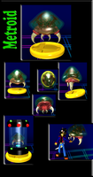 Metroid Brawl Trophy by kritken