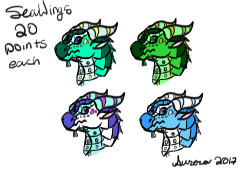 (CLOSED) Even More SeaWing Adopts by AurorasAdoptables
