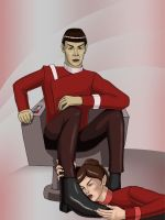 Spock and Saavik by Psee