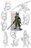 Legathin Model Sheet by CoyoteEsquire