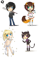 CHIBIS ATTACKING YOUR FACE by DannyPhantomFreek