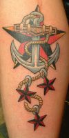 anchor with stars by tat2girl13
