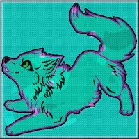 wolf pup- SOLD by WhirledlyGoodz